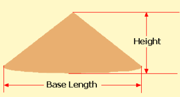 Volume of a Cone Shaped Pile Calculator - Imperial