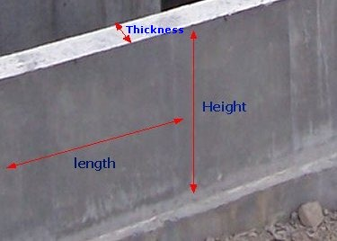 Concrete Volume Calculator for a Foundation Wall