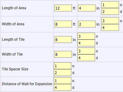 Area Tile Layout