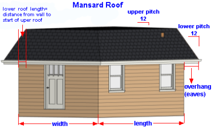 Mansard roof online square footage calculator for How to figure out roof square footage